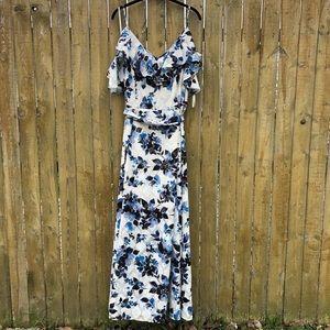 Eliza J. Off Shoulder Floral Print Maxi Dress